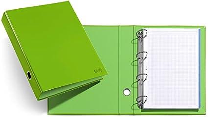 Archivador Candy Colours Apple Green 4 Anillas Lomo Ancho: Amazon ...