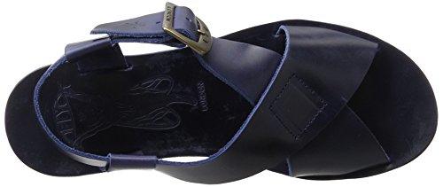 Fly London P143880003, Sandalias de Cuña Mujer Azul (Blue 007)
