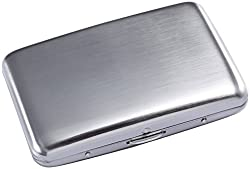Latest Stainless Steel Rfid Blocking Credit Card Holder for Men & Women - Stylish Travel Wallet - Best Protection for Your Bank Debit, Id, Atm, Cards Against Rfid Scanning Criminals - Cool Slim Metal Business Card Case