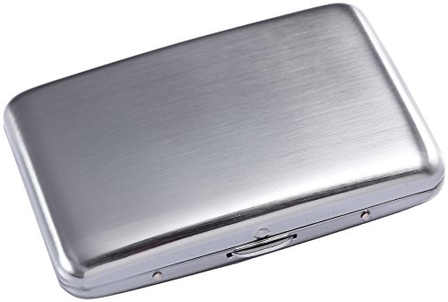 Stainless Steel Rfid Blocking Credit Card Holder for MenWomen- Fingerprint-Free - Stylish Travel Wallet - Best Protection for Your Cards Against Rfid Scanning - Cool Slim Metal Business Card - Closing Credit Card The Limited