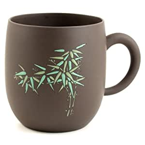 Brown Glazed Bamboo Chinese Yixing Clay Mug 21 ounces