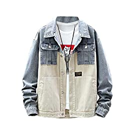 Men's Big and Tall Casual ,Trucker Jacket Jeans Coat