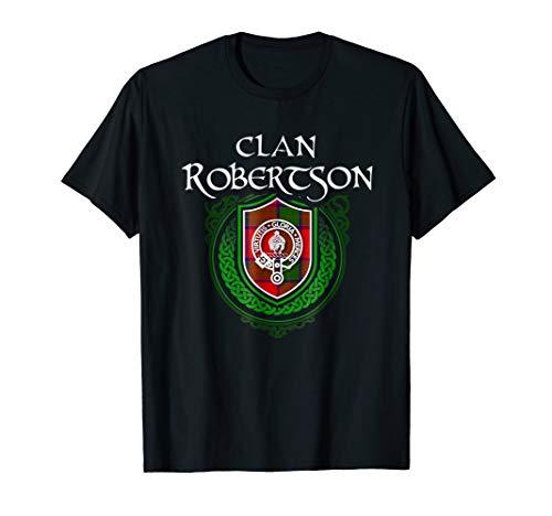 - Robertson Surname Scottish Clan Tartan Crest Badge T-shirt