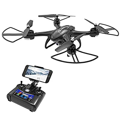 DEERC HS200D Drone with FPV Camera for Beginners Adults and Kids 720P HD Live Video Feed 120°FOV, RC Quadcopter RTF with Altitude Hold Headless Mode Functions, Intelligent Battery from DEERC