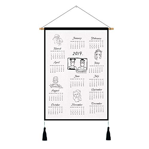 ZK 2019 Tea Towel Calendar by Special Edition Linen Cotton Tea Towel Calendar