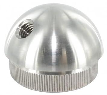 f/ür Rohr /ø 40,0 x 2,0mm zum Einschlagen Endkappe flach massiv