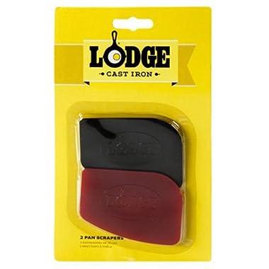 Lodge SCRAPERPK Durable Pan Scrapers, Red and Black, 2-Pack