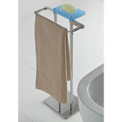 Toscanaluce 874-BL-637509858032 Eden Collection Decorative Plexiglass Bathroom Butler, Blue