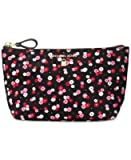 MICHAEL Kelsey Medium Travel Pouch Black/Ultra Pink