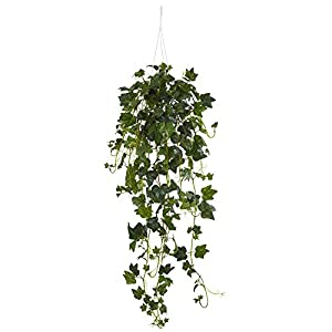 Nearly Natural English Ivy Hanging Basket Artificial Plant Green 45