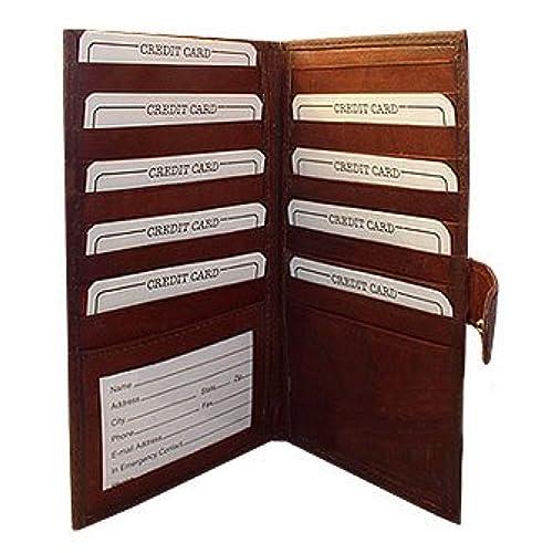 "MW1629CFBD 7"" x 4"" x 1/2"" Leather Bifold Credit Card Holder Burgundy Wallet"