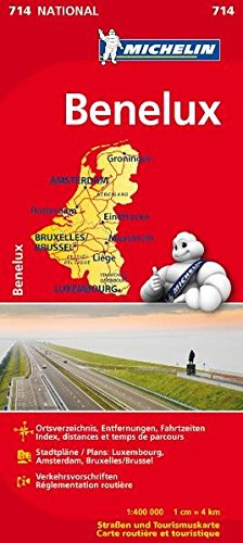 Michelin Benelux: Straßen- und Tourismuskarte (MICHELIN Nationalkarten, Band 714) Landkarte – 7. Februar 2012 2067170570 Karten / Stadtpläne / Europa Belgien Luxemburg