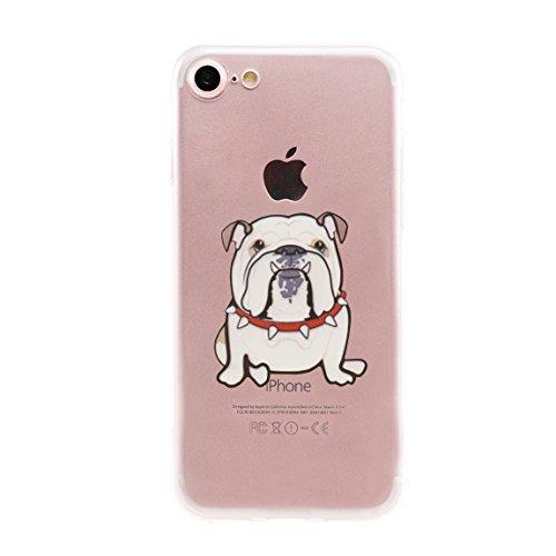 Adorable English Bulldog Puppy (Arunners iPhone 7 Case Cover Crystal English Bulldog Design Clear Cute Kawayi Unique Funny Phone Cases Skin for iPhone 4.7 inch - Bulldog)