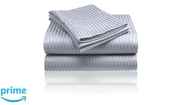 Plazatex Embossed Dobby Stripe Sheet Set Navy Queen