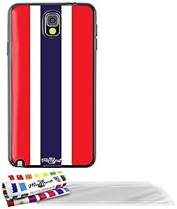 """Carcasa Flexible Ultra-Slim SAMSUNG GALAXY NOTE 3 / N9000 de exclusivo motivo [Bandera Tailanda ] [Negra] de MUZZANO  + 3 Pelliculas de Pantalla """"UltraClear"""" + ESTILETE y PAÑO MUZZANO REGALADOS - La Protección Antigolpes ULTIMA, ELEGANTE Y DURADERA para su SAMSUNG GALAXY NOTE 3 / N9000"""