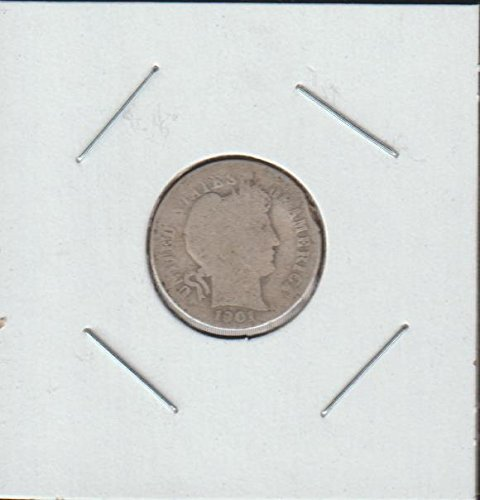 1901 Barber or Liberty Head (1892-1916) Dime Good