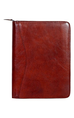 Scully Women's 5012Z Italian Leather Padfolio (Mahogany) by Scully