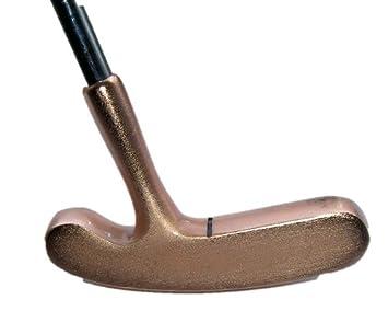 2 way tradicional estilo Golf Putter Bullseye latón, derecha ...