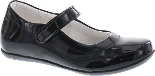 Primigi Girls Zura Dress Ankle Strap Mary Jane Flats Shoes,Black Patent,29