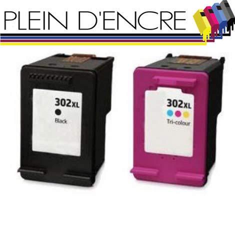 Pack de 2 cartuchos de tinta n.º 302 XL/gran capacidad/negro y ...