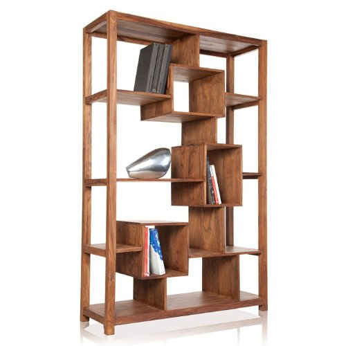 CAGÜ - REGAL BÜCHERREGAL [SALEM] aus SHEESHAM MASSIV HOLZ GEWACHST 180cm x 115cm