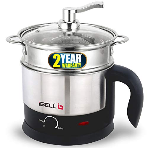 iBELL MPK120L Stainless Steel Multi Purpose Kettle/Cooker