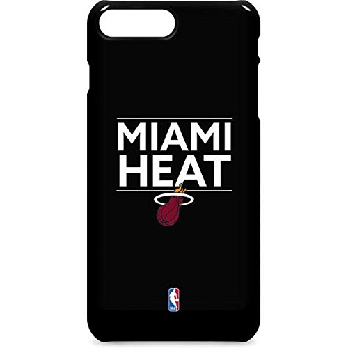 Miami Heat iPhone 8 Plus Case - Miami Heat Standard - Black | NBA X Skinit Lite Case
