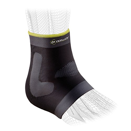 - DonJoy Performance Deluxe Knit Ankle Compression Sleeve with J Buttress and Closed Heel for Mild Sprains, Strains, Inflammation, Swelling, Tendonitis, Arthritis - Small
