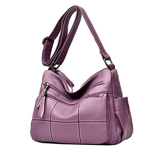Daypack All aperto Per Mano Donna In Tracolla Spillo Purple Da Zaino Borsa  Con Grande Multicolore Scollo A Cerniera Morbida Plsonk Pelle q4BnAxdqw 574370c303b
