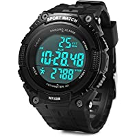 PeDometer Waterproof Sports Multifunction LeD Digital 3D PeDometer Military With Alarm Without SpeeDometer Black Smartwatch