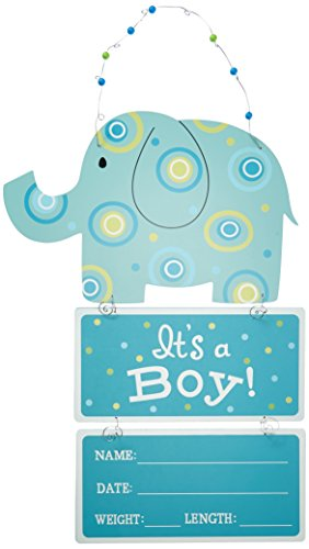 Elephant Wooden Wall Hanging Blue