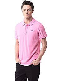 Pau1Hami1ton T-06 Men's Casual Classic Pure Cotton Solid Short Sleeve Polo Shirt