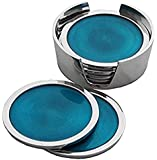 Oh So Pretty Recycled Aluminium Set of 6 Coasters Summer Large