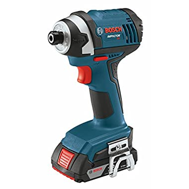 Bosch IDS181-102 18-volt 1/4-Inch Hex Compact Tough Impact Driver with Slim Pack Battery
