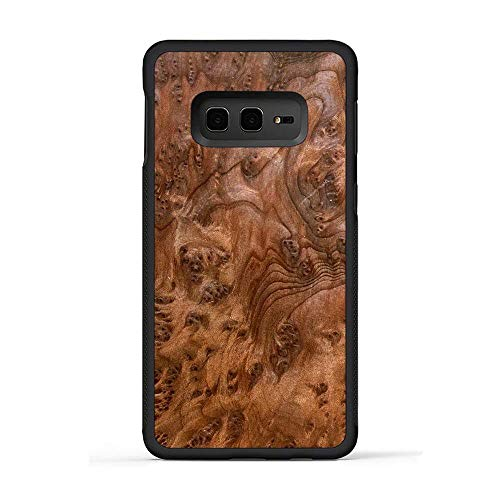 Carved | Galaxy S10e | Luxury Protective Traveler Case | Unique Real Wooden Phone Cover | Rubber Bumper | Redwood Burl