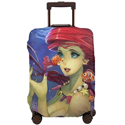 Anime Ponyo Travel Luggage Cover Suitcase Protector Washable Baggage Luggage Covers Zipper Fits 29-32 Inch
