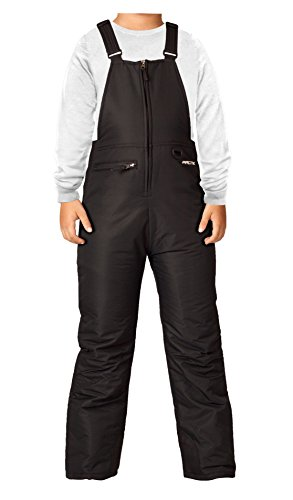 Arctix Insulated Youth Snow Bib Overalls, Black, X-Large (Youth Skis)