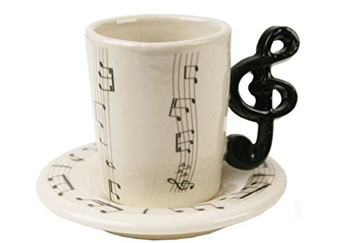 Funky treble clef espresso cup accessories studio live buy online free - Funky espresso cups ...