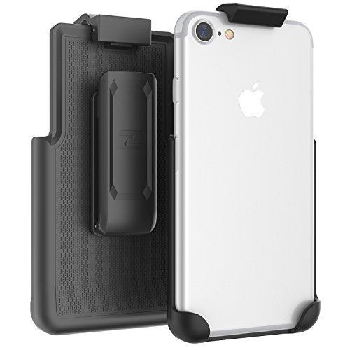 Encased iPhone 8 Belt Clip (CASE Free Design), ClipMate Non-Slip Rotating Holster - for Apple iPhone 8 4.7 (Smooth Black)