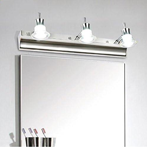 Luz Delantera con Espejo Simple Moderno Acero Inoxidable Impermeable Niebla Espejo de baño Espejo Cuarto de baño baño Maquillaje llevó Espejo llevó luz Fuente de luz LED 9W lámpara de Pared: Amazon.es: