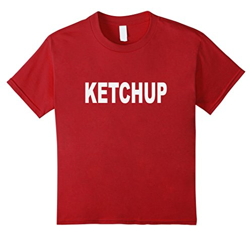 [Kids Ketchup t-shirt Halloween Costume Do-it-Yourself 12 Cranberry] (Do It Yourself Halloween Costumes For Girls)