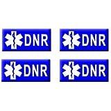 DNR - Do Not Resuscitate - Set of 4 Stickers