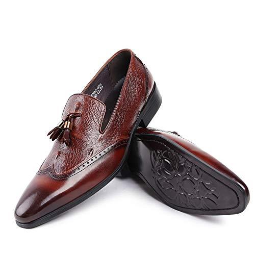 Calzado Fiesta Brown Negocios Cuero Moda 44 Vestir Formales Negros Zapatos Boda Hnm Hombre Casual 37 Oxford Shoes Mocasines 8BOqOw