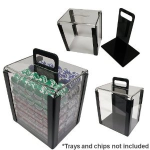 Da Vinci Acrylic Poker Chip Carrier with 1,000 Chip Capacity