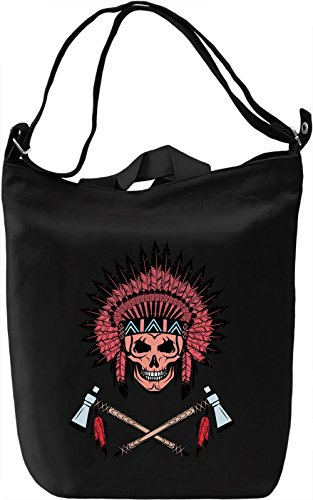 Indian skull Borsa Giornaliera Canvas Canvas Day Bag| 100% Premium Cotton Canvas| DTG Printing|