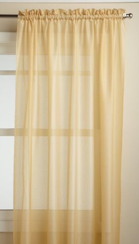 Lorraine Home Fashions Reverie 60-inch x 63-inch Tailored Panel, Gold Size: 60-inch x 63-inch Tailored Panel Color: Gold Model: 06444-63-00018 ()