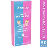 SanNap Baby Diaper Disposal Bags (50 Count)