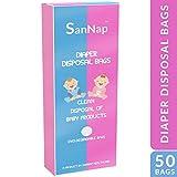 SanNap Baby Diaper Disposal 50 Bags/Sacks (Toss Dirty Diapers Bag) - Pack of 50 Bags
