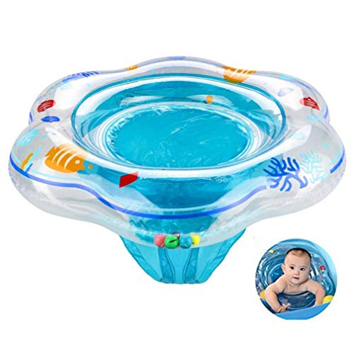 Sunbona Baby Swimming Float Ring Toddler Inflatable Floating Ring with Seat for Bathtub Swimming Pool Suitable for 1-3years