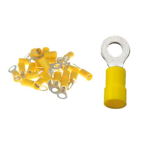 25 Stück Ringkabelschuhe M6 6, 4mm gelb 4, 0 bis 6, 0 mm² K24 - Kabelschuh